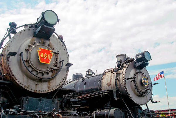 Wall Art - Photograph - Two Old Pennsy Railroad Engines by Paul W Faust - Impressions of Light