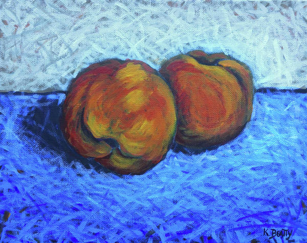 Painting - Two Peaches by Karla Beatty