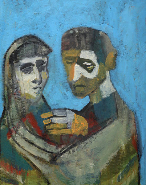 Painting - Two People by Artist Dot