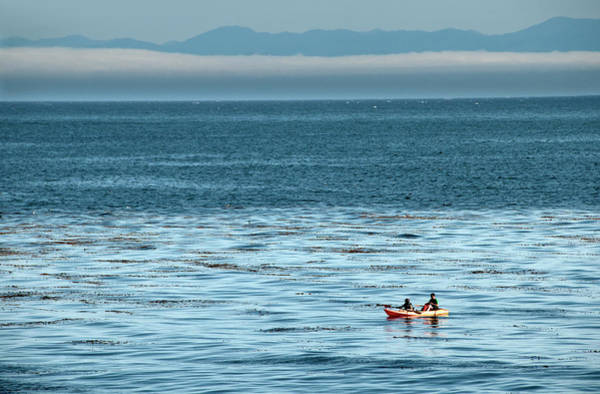 Two People On Ocean Kayaks Art Print