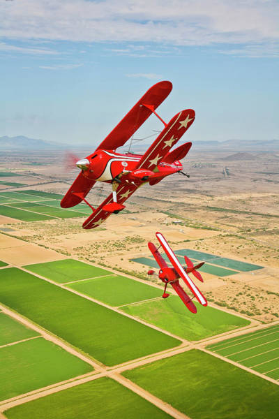 Aerobatics Wall Art - Photograph - Two Pitts Special S-2a Aerobatic by Scott Germain/stocktrek Images