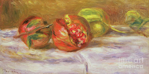 Pomegranates Painting - Two Pomegranates by Pierre Auguste Renoir