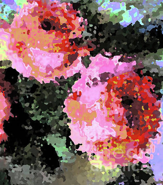 Photograph - Two Roses Palette by Corinne Carroll