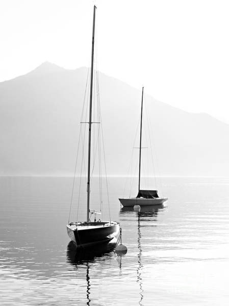 Wall Art - Photograph - Two Sail Boats In Early Morning On The by Kletr