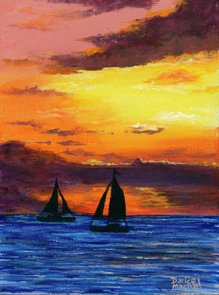 Painting - Two Sailboats by Darice Machel McGuire