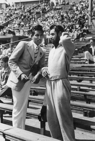 Spectator Photograph - Two Spectators At International by Charles H. Hewitt/haywood Magee