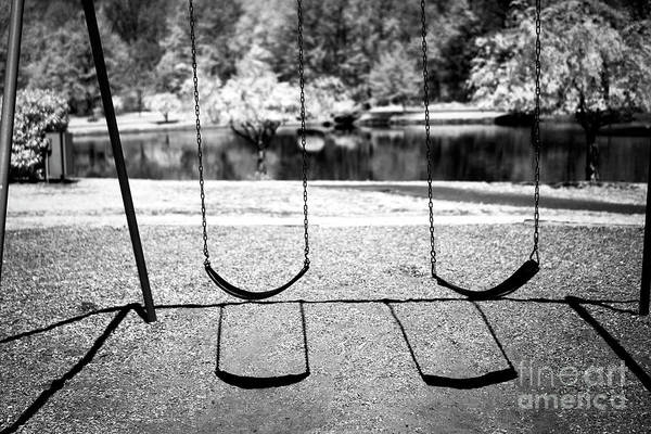 Photograph - Two Swings Infrared by John Rizzuto