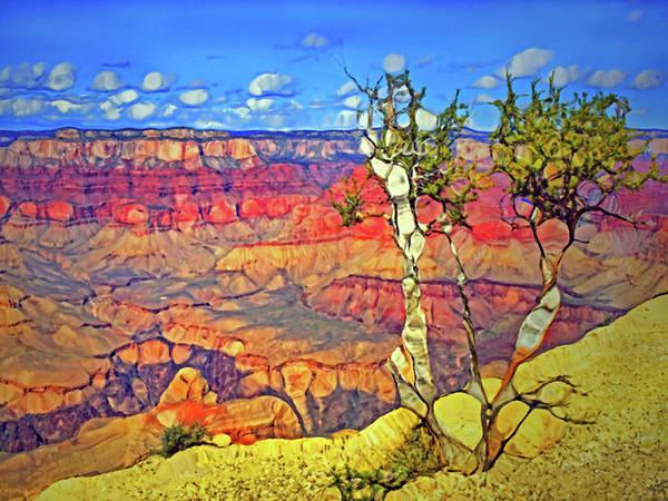 Digital Art - Two Trees At The Grabd Canyon by Tara Turner