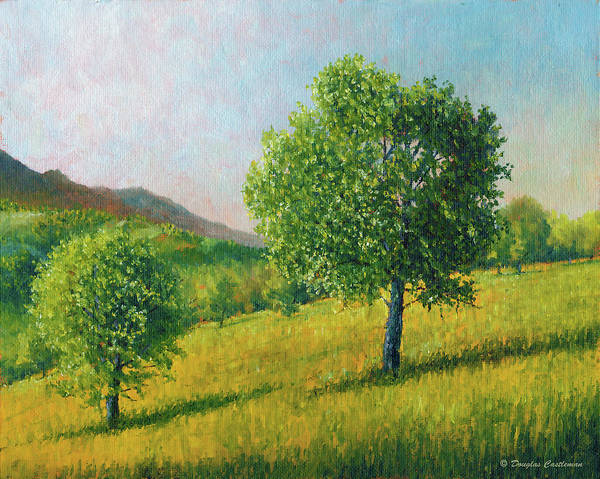 Painting - Two Trees In Tehachapi by Douglas Castleman