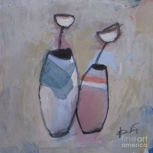 Wall Art - Painting - Two Vases by Vesna Antic