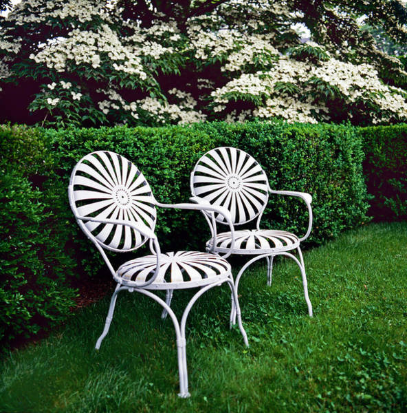 Nantucket Photograph - Two White Chairs by Richard Felber