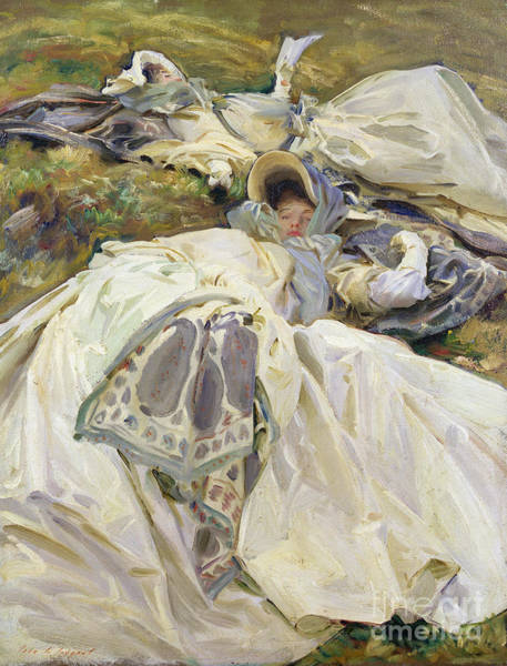 Wall Art - Painting - Two White Dresses, 1911 by John Singer Sargent