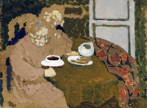 Wall Art - Painting - Two Women Drinking Coffee - Digital Remastered Edition by Edouard Vuillard