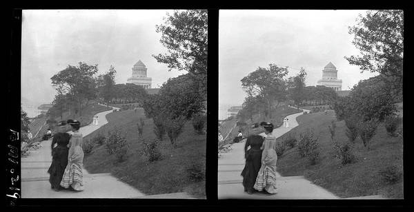 Riverside Photograph - Two Women In Riverside Park by The New York Historical Society