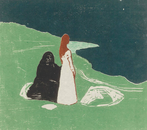 Wall Art - Relief - Two Women On The Shore by Edvard Munch