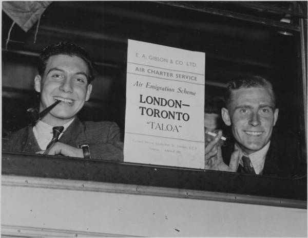 Painting - Two Young British Emigrants On An Air Immigration Plan Bus 1947 by Celestial Images