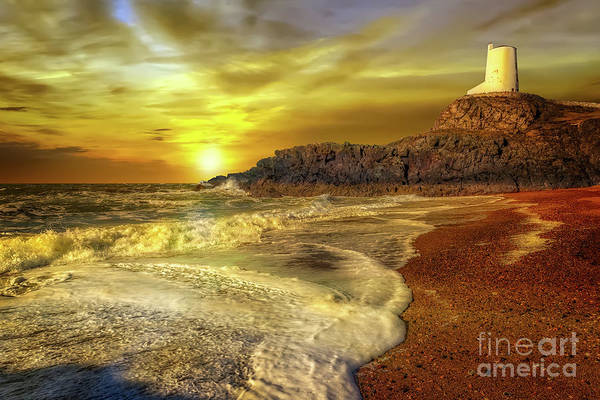 Photograph - Twr Mawr Lighthouse Sunset by Adrian Evans