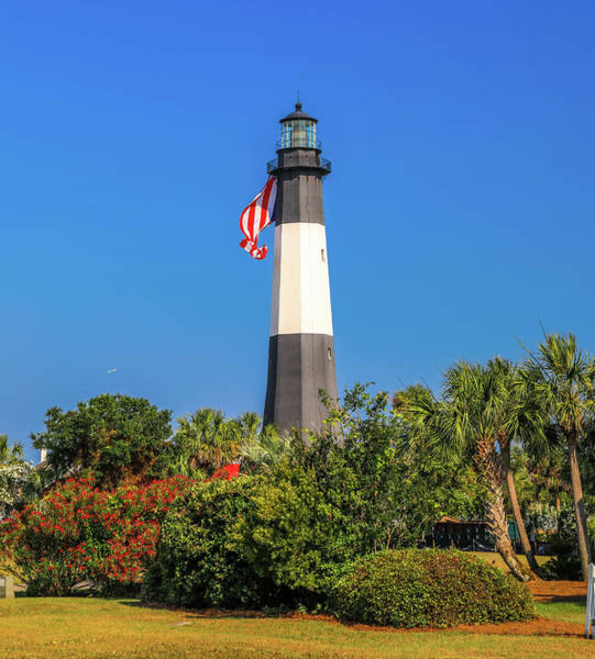 Wall Art - Photograph - Tybee Island Light Memorial Day by Dan Sproul