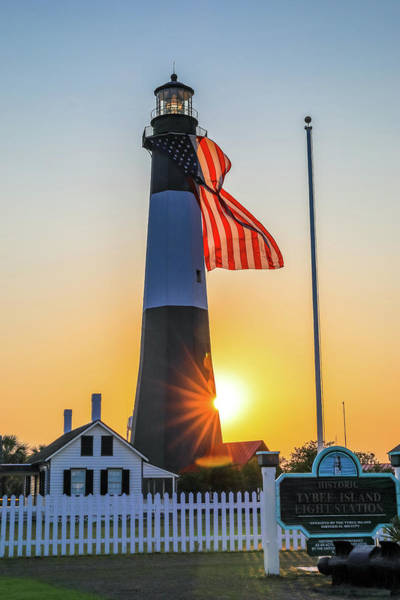 Wall Art - Photograph - Tybee Island Light Sunset by Dan Sproul