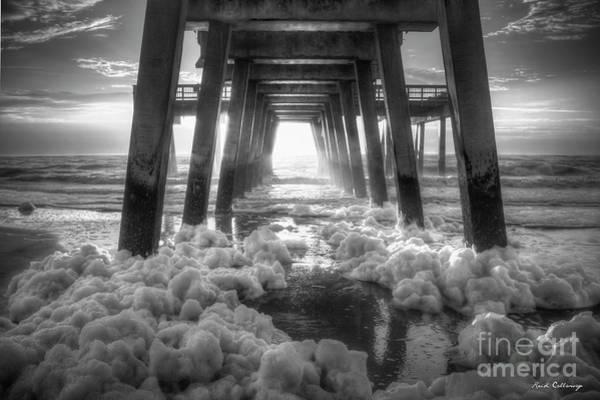 Photograph - Amazing Grace Tybee Pier Sunrise Atlantic Ocean Art by Reid Callaway