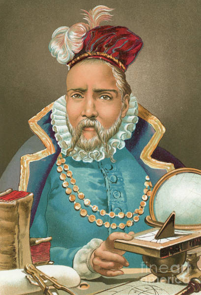 Wall Art - Painting - Tycho Brahe Illustration by J Planella Coromina