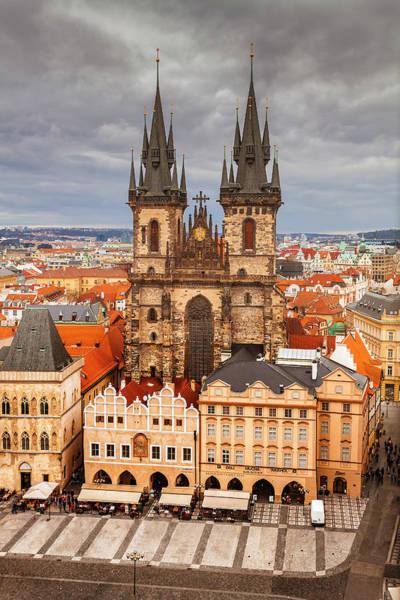 Wall Art - Photograph - Tyn Church In Prague by Andrew Soundarajan