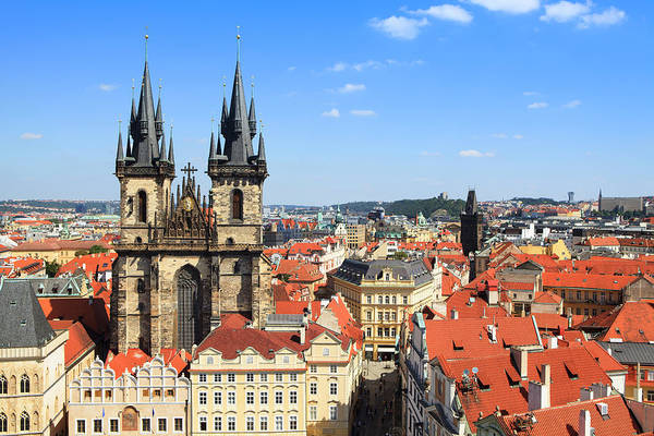 Staring Photograph - Tyn Church In Stare Mesto, Prague by Espiegle