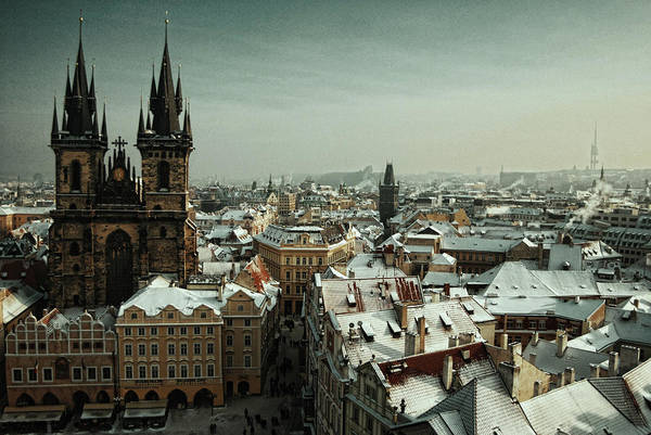 Christianity Photograph - Tyn Church, Prague by Erik T Witsoe