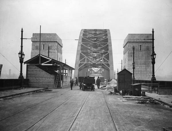 Newcastle Upon Tyne Photograph - Tyne Bridge by Hulton Archive