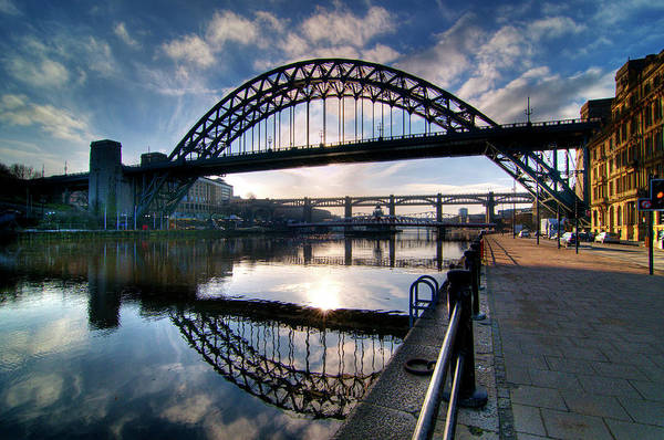 Newcastle Upon Tyne Photograph - Tyne Bridge Ultra Wide View by Paul J White