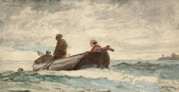 Wall Art - Drawing - Tynemouth Priory, England by Winslow Homer