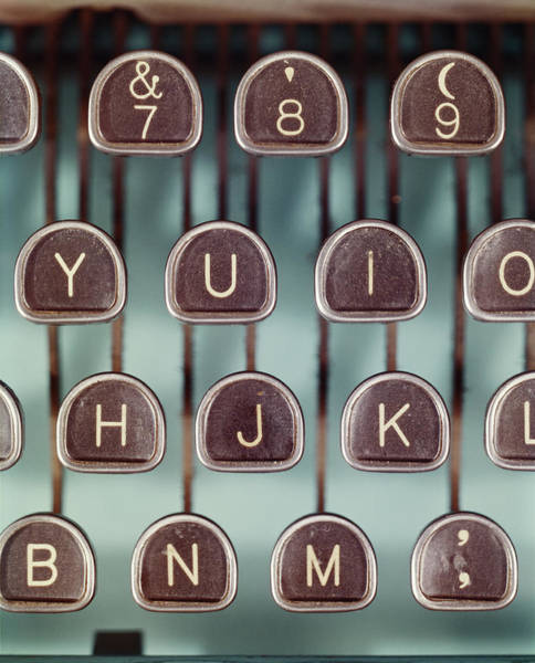 The Past Photograph - Typewriter Keys, Close-up by Tom Kelley Archive