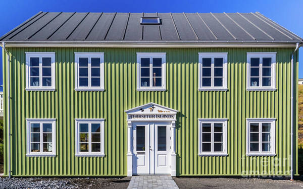 Photograph - Typical Islandic Building by Lyl Dil Creations