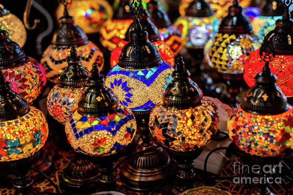 Photograph - Typical Turkish Table Lamps by Joaquin Corbalan