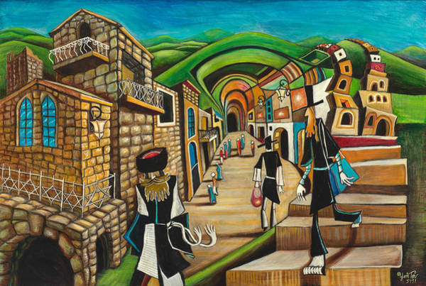 Painting - Tzfat The Way I See It by Yom Tov Blumenthal