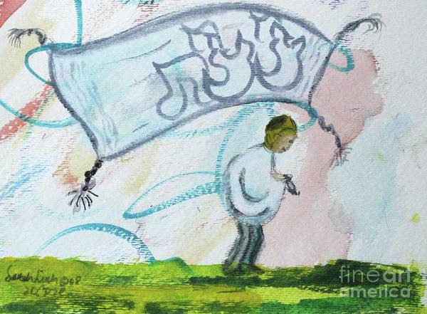 Painting - Tzitzit by Hebrewletters Sl