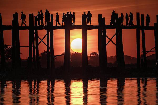 Photograph - U Bein Bridge Sunset by Chris Lord