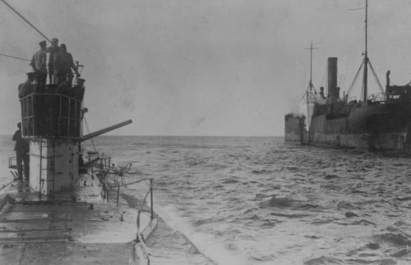 Boat Deck Photograph - U-boat Attack by Hulton Archive