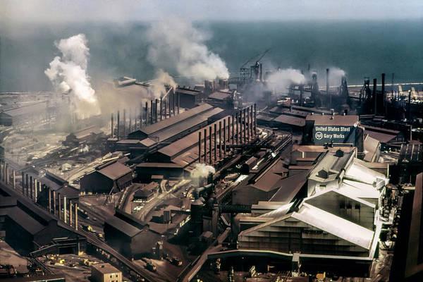Wall Art - Photograph - U. S. Steel Gary Indiana Works 1973 by Daniel Hagerman