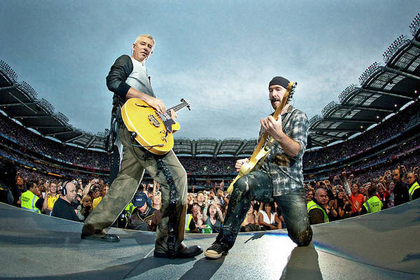 Clayton Photograph - U2 Perform In Dublin by Neil Lupin