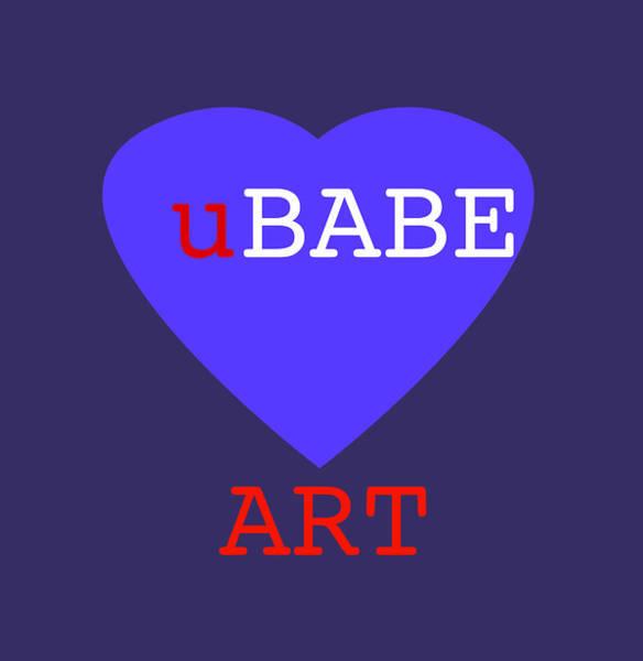 Digital Art - uBABE Blue Love by Charles Stuart