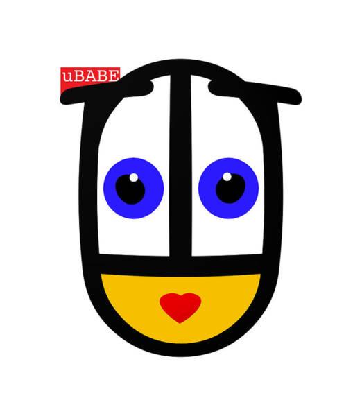 Digital Art - uBABE Face by Charles Stuart
