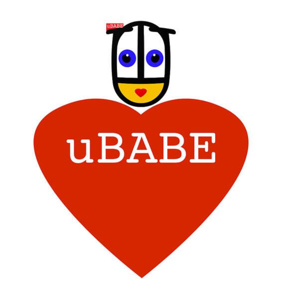 Digital Art - uBABE Love by Charles Stuart