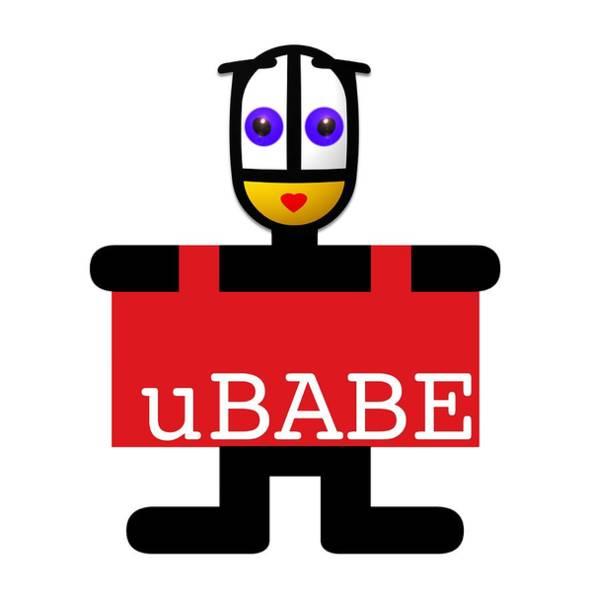 Digital Art - uBABE Style Tag  by Charles Stuart
