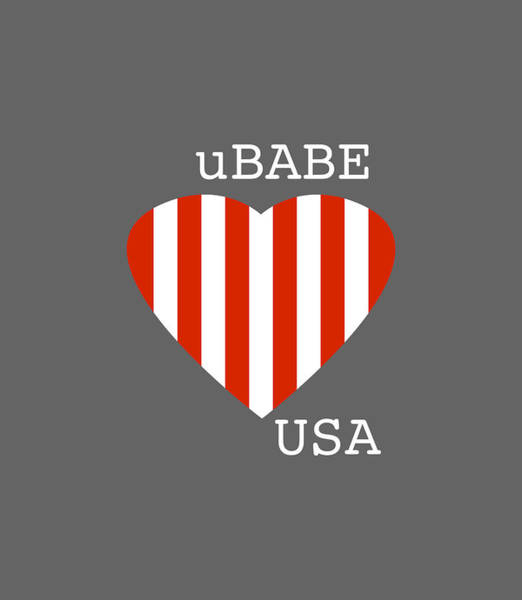 Digital Art - uBABE USA by Ubabe Style