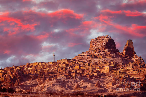 Geological Wall Art - Photograph - Uchisar Castle, Cappadocia by Muratart