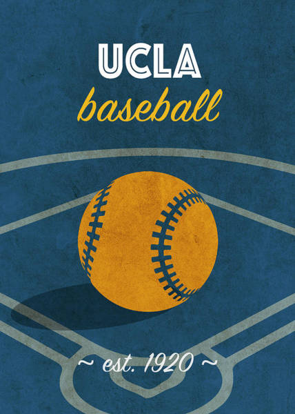 Wall Art - Mixed Media - Ucla Baseball College Sports Team Retro Vintage Poster Series by Design Turnpike