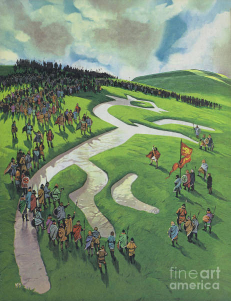 Wall Art - Painting - Uffington White Horse by Angus McBride