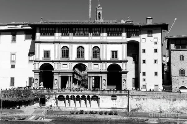 Photograph - Uffizi Gallery From The Lungarno Torrigiani In Florence by John Rizzuto