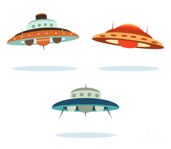 Spacecraft Wall Art - Digital Art - Ufo Alien Space Ships by Oculo